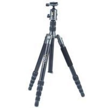 Vanguard VEO 2 GO 265HAB Travel Tripod Kit with 5-Section Aluminum Tripod T-50 Compact Ball Head, 64.62& Extended Height