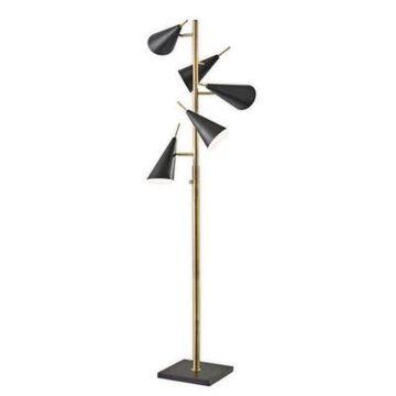 Adesso Owen Tree Lamp Antique Brass