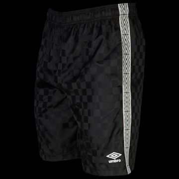 Umbro Checker Keeper Shorts - Black Beauty / White