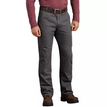 Men's Dickies Duck Double Knee Pant, Size: 34X34, Grey