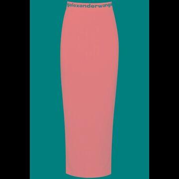 Alexander wang long skirt with logo