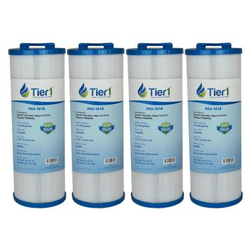 Tier1 Replacement for Waterway 817-4050 Spa Filter, Teleweir 50, Pleatco PWW50L, Filbur FC-0172, Unicel 4CH-949 Spa Filter Cartridge 4 Pack