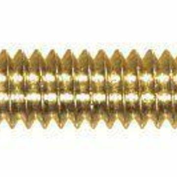 ''The Hillman Group 2124 Flat Head Slotted Machine Screw, 10-32 x 1/2-Inch, Brass,''