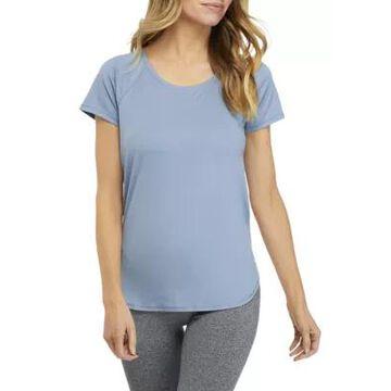 Rbx Women's Peached Interlock Twist Back Shirt - -
