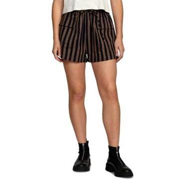 Rvca Striped Morse Cotton Walkshorts