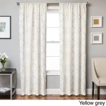 Softline Monza Emboridered Faux Linen Curtain Panel
