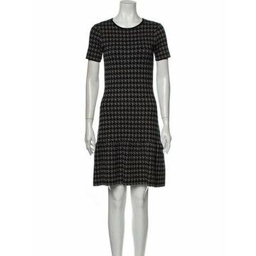Plaid Print Mini Dress Grey