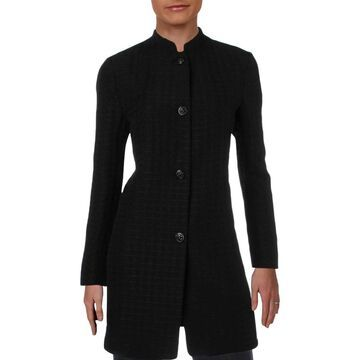 Anne Klein Womens Topper Jacket Houndstooth Business