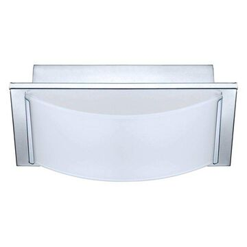 1x6.7W LED Wall/Ceiling-Light w/ Chrome Finish & White Glass by Eglo, C