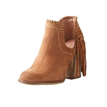 Ariat Fashion Boots Womens Lily Ankle Fringe Whiskey