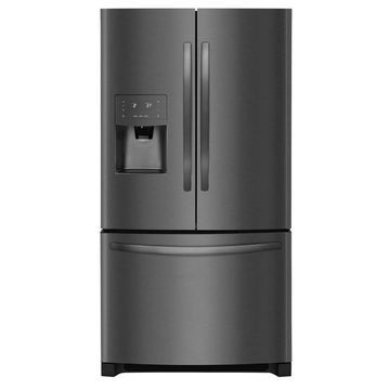 Frigidaire 26.8-cu ft French Door Refrigerator with Ice Maker (Black Stainless Steel Black Stainless Steel) ENERGY STAR