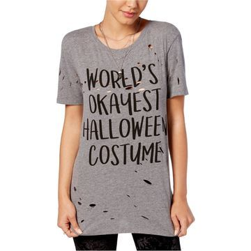 Mighty Fine Womens Worlds Okayest Graphic T-Shirt