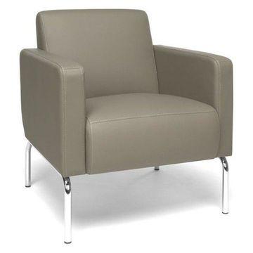 OFM Triumph Guest Chair, Taupe
