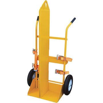 Vestil Welding Cylinder Cart - 500-Lb. Capacity, Foam-Filled Wheels, Powder-Coat With Fire Protection, Model CYL-EH-FP-FF