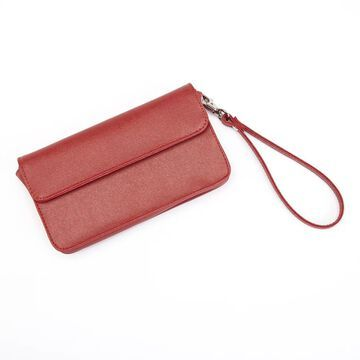 Royce Leather Women's Chic RFID Blocking Saffiano Leather Wristlet