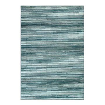 Liora Manne Marina Stripes Indoor Outdoor Rug, Blue, 6.5X9.5 Ft