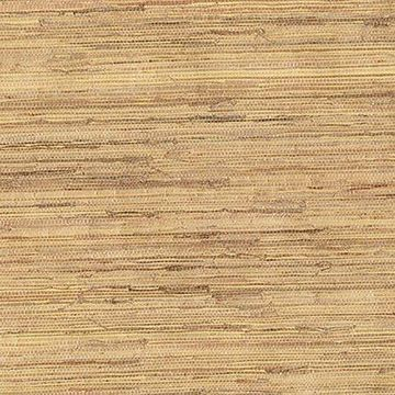 Kenneth James Kiku Beige Grasscloth Wallpaper
