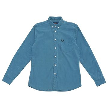 Fred Perry Blue Cotton Shirts