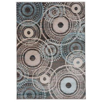 Mainstays Circles Brown Area Rug or Runner