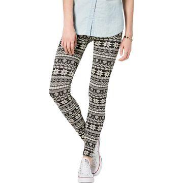 Hippie Rose Womens Juniors Fleece Lined Printed Leggings