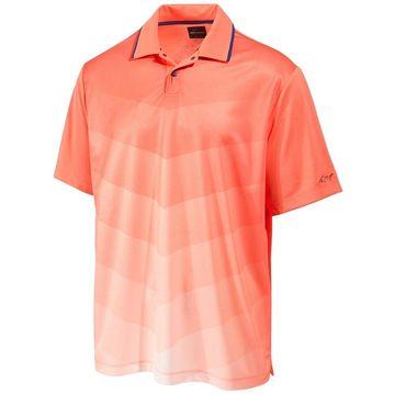 Greg Norman Mens Ombre Cheveron Rugby Polo Shirt