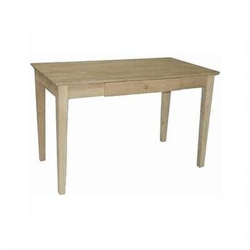 Writing Desk With Drawer in Brown- Pemberly Row