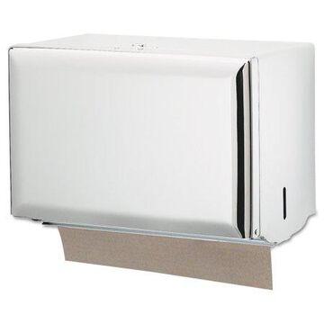 San Jamar Singlefold Paper Towel Dispenser, White, 10 3/4 x 6 x 7 1/2 -SJMT1800WH