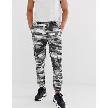 Bershka carrot fit pants with chain in black