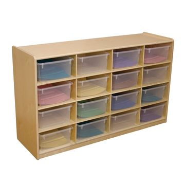 Wood Designs 16 Letter Tray Storage Unit with 5 in. Trays