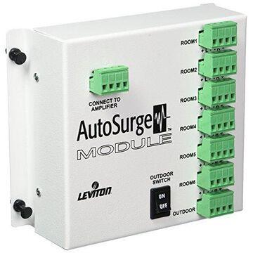 Leviton by Bose 7-Zone Speaker Audio Distribution Surge Protection Module LBASP