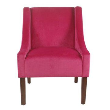 HomePop Modern Swoop Arm Accent Chair, Velvet