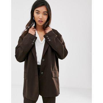 Weekday echo oversized blazer in brown