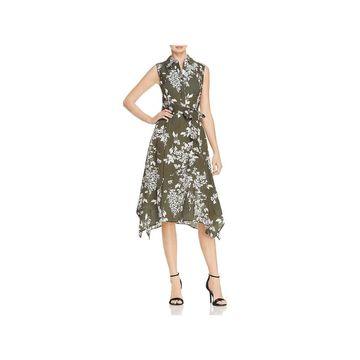 Lafayette 148 New York Womens Moxie Shirtdress Floral Sleeveless - 16