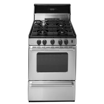 Premier 24-in 4 Burners 2.9-cu ft Freestanding Gas Range (Stainless) Stainless Steel | P24S3402PS