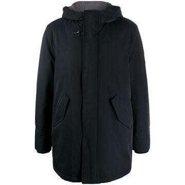 hooded mid-length parka