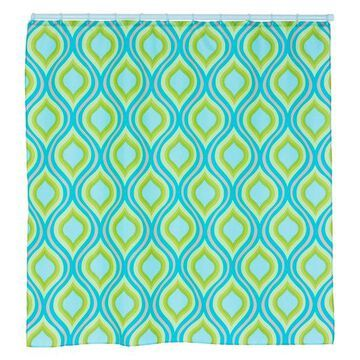 Teardrop Print Shower Curtain with Buttonholes by Lavish Home