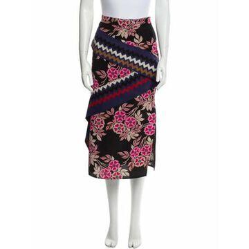 Msgm Silk Midi Length Skirt Pink Msgm Silk Midi Length Skirt