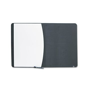 Quartet Tack & Write Board 35 x 23 1/2 Black/White Surface Black Frame 06545BK