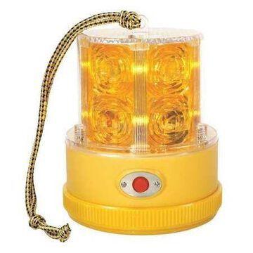GROTE 77913 Warning Light,LED,Ambr,Mag,Rnd,4-1/4 Dia