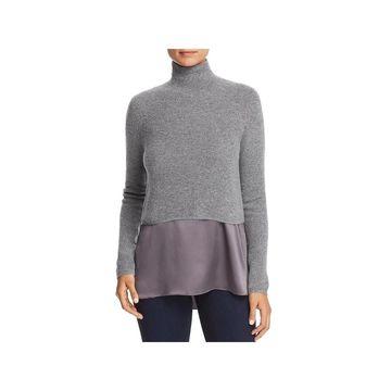 Elie Tahari Womens Casper Sweater Long Sleeves Cropped - M