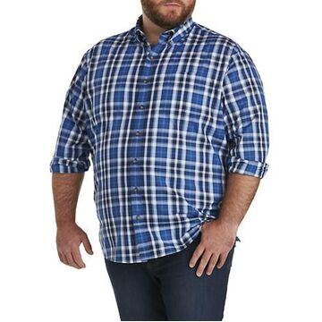 Big & Tall Harbor Bay Easy-Care Large Plaid Sport Shirt - Limoges
