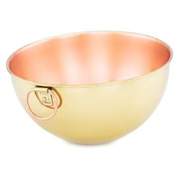 Champagne Tone Solid Copper Beating Bowl, 5 Qt.