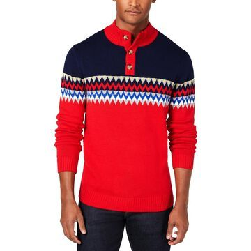 Club Room Mens Knit Colorblock Pullover Sweater