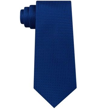 Sean John Blue Men's One Size Slim Chain Link Texture Silk Neck Tie
