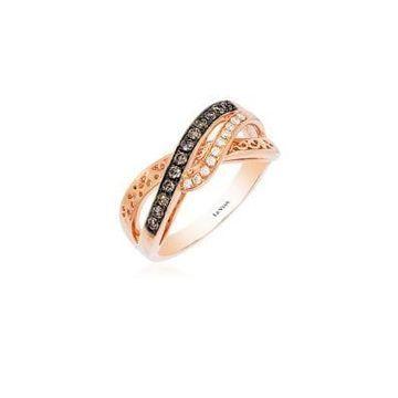 Chocolatier Diamond and 14K Rose Gold Ring