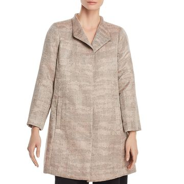 Eileen Fisher Womens Jacquard Swing Basic Jacket