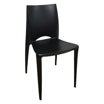 Fine Mod Imports Square Dining Chair, Black