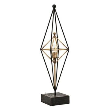 Imax Wrought Iron And Led Table Lamp With Gold Finish 16276