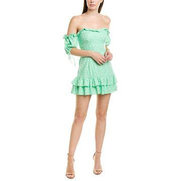 Finders Keepers Womens Finderskeepers Wildflower Linen-Blend Mini Dress