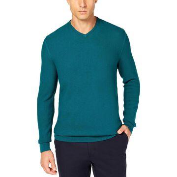 Tasso Elba Mens Seed Stitched Supima Cotton Sweater